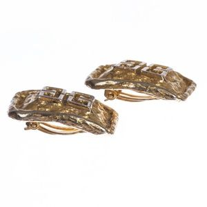 gvenchy Jewelry - Givenchy Monogram Rectangular Nugget Earrings